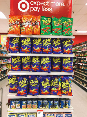 Lastly, Target carries a Mexican favorite, Takis chips.
