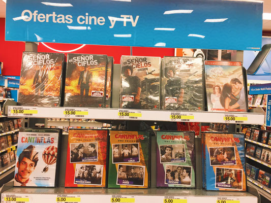 Target carries both modern novelas and classic movies.