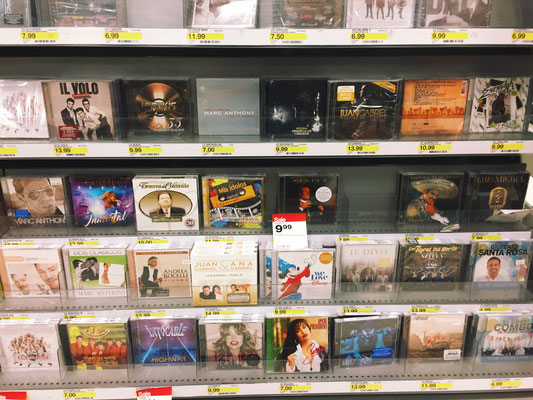 This is a small portion of the Spanish music Target carries.