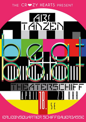 Beat Boat, Flyer, The Crazy Hearts, Theaterschiff Potsdam