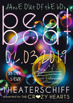 Beat Boat, Plakat, The Crazy Hearts, Theaterschiff Potsdam