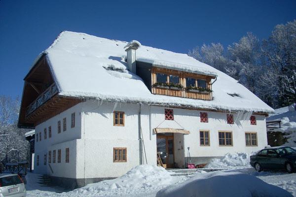 Bauernhaus Angermann im Winter