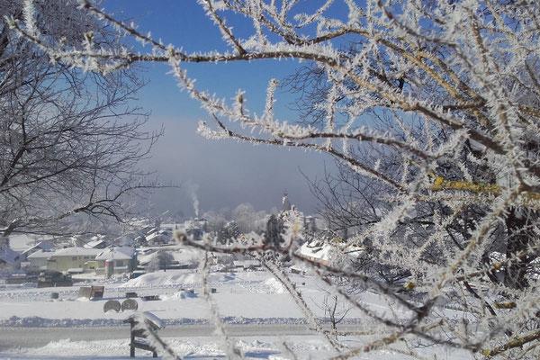 Winterstimmung vom Attersee-Chalet