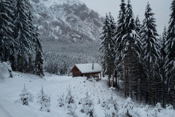 Winterlandschaft im Bergsteigerdorf Steinbach am Attersee