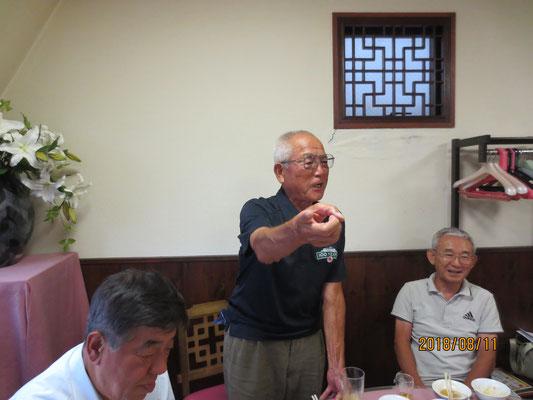 川島哲男川崎野球協会会長・遠征団長