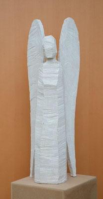 Engel  77cm   Eschenholz weiss lasiert, unverkäuflich