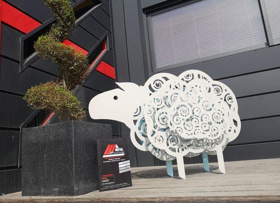 Création d'un mouton taille réel en Alu Dibon