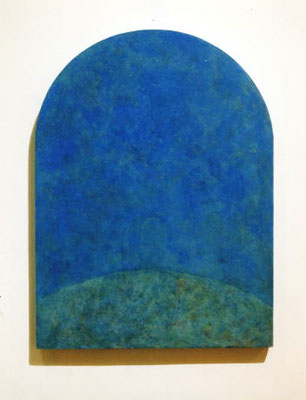 Blue Gate         32.3×27.2cm           oil on wood