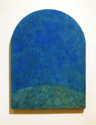 Blue Gate         32.3×27.2cm           oil on wood