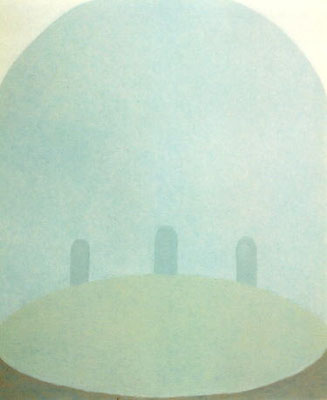 Slow blue Spacel         80.3×65.2cm   oil on canvas
