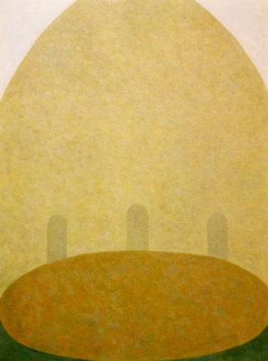 黄色い中庭  /  Yellow Courtyard        72.7×53.0cm    oil on canvas