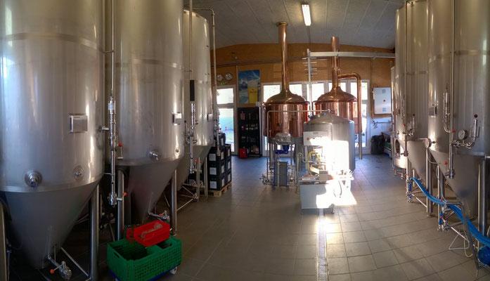 Tunnellanschaften bei uns in der Brauerei - macht Respekt