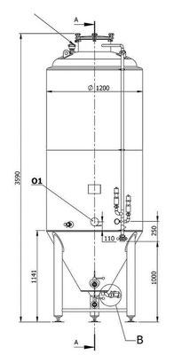 ZKT - zylinderkonischer Gär- und Lagertank 25 hl