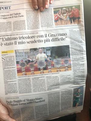 Articolo della Stampa dell'Amico Maurizio Sala