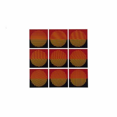 Mechano optische Untersuchung Serie 23.1978. 50 x 50 cm