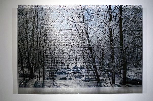 N3, 2011. 187 snows series. Ink print on 2 mm flexible metacrylate. 100 x 150 cm