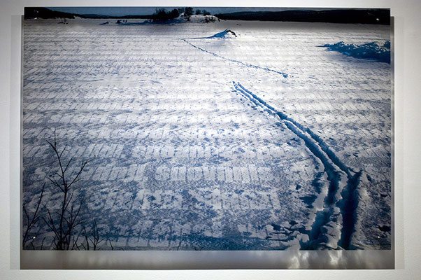 N7, 2011. 187 snows series. Ink print on 2 mm flexible metacrylate. 100 x 150 cm