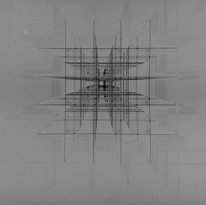 ROGER HUMBERT. Fotogramm, 1972. Silbergelatine-Barytpapier. Unikat. 25,3 x 25,3 cm