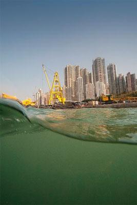 Hong Kong Island. From a Boat near Sheung Wan. 2010