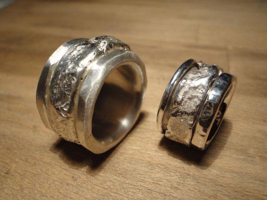 Silberring mit drehbarem Aussenring -ideal zum Spielen... (925 Sterlingsilber) Preis: CHF 390.-