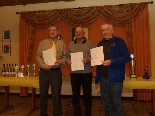 Träger der 'Silbernen Nadel' - v.l. Olaf, Dieter und Reinhard