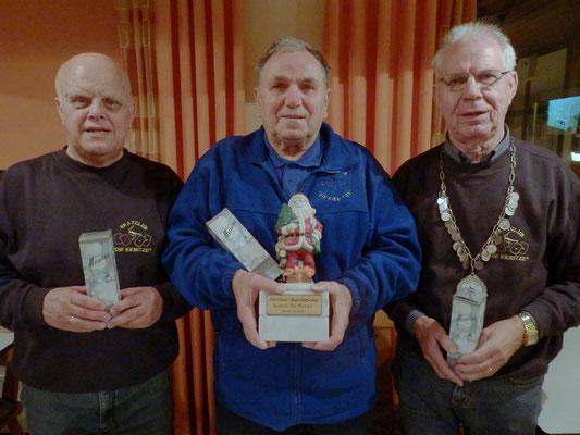 Die Gewinner (v.l.): Hans-Wilhelm, Erwin und Martin