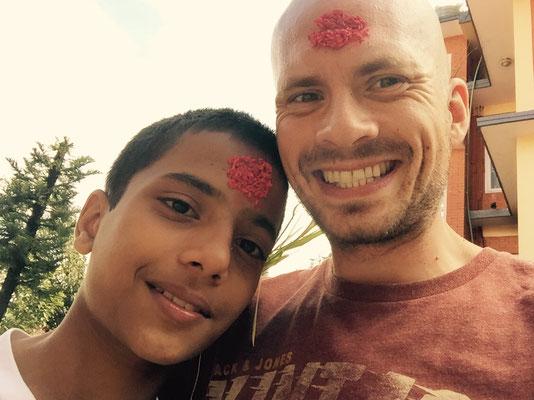 Mit Niraj, der noch nicht ganz so lange bei uns ist