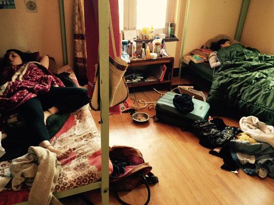 Eines der Schlafzimmer, und Bekka und Nessi wissen bis heute nicht, dass ich dort war und das Foto geschossen hab, muahua.