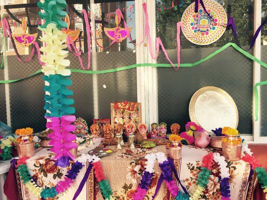 Der Lakshmi-Altar im neuen Haus