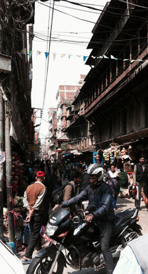 Touristengasse in Thamel