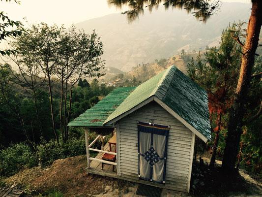 Die Hütte, in der Bekka und ich genächtigt haben.