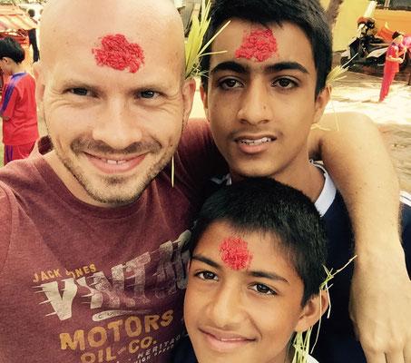 Mit Surendra und Ashok