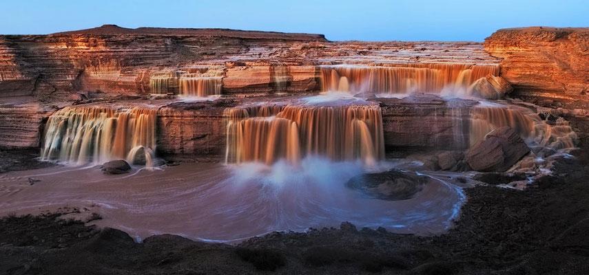 The Grand Falls of the Little Colorado River in Arizona