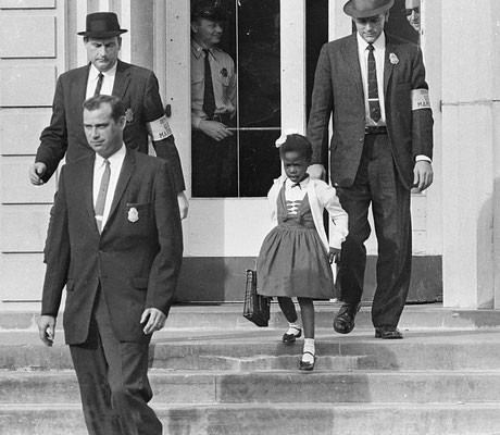 Ruby Bridges, première enfant noire à intégrer une école pour enfants blancs dans le Sud en 1960