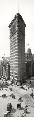Le Flatiron Building dans l'arrondissement de Manhattan à New York - 1902