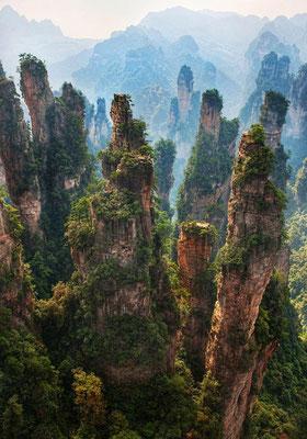 Zhāngjiājiè dans la province du Hunan en Chine