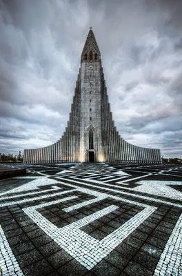 La Hallgrímskirkja, église luthérienne à Reykjavik en Islande