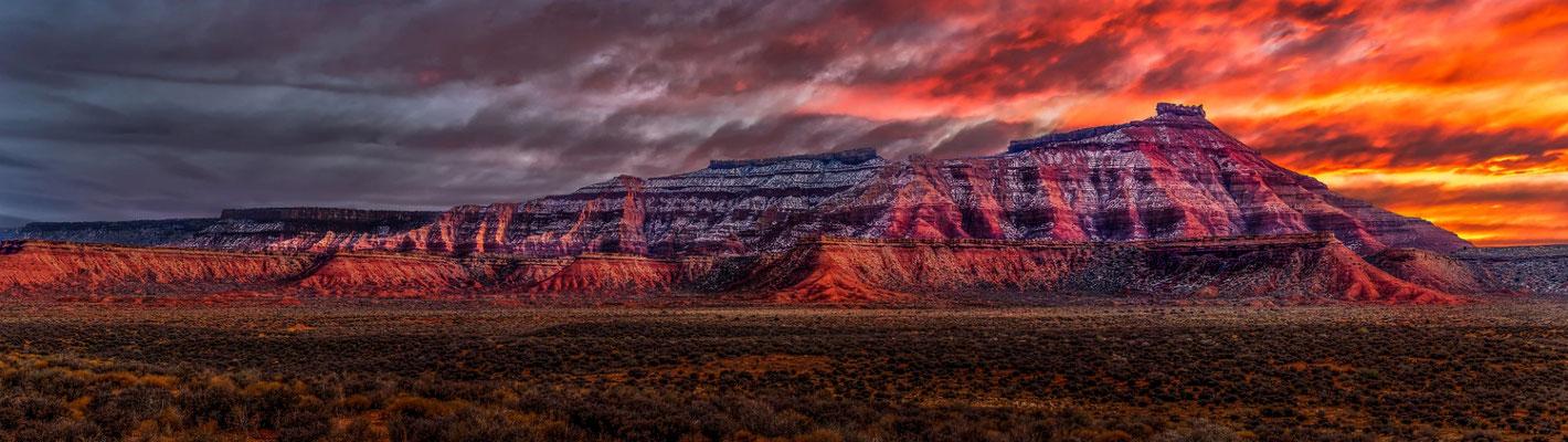 Gooseberry Mesa dans le parc national de Zion en Utah
