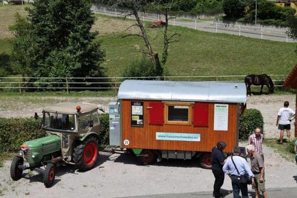 Mit Traktor und Bauwagen zum Nordcap