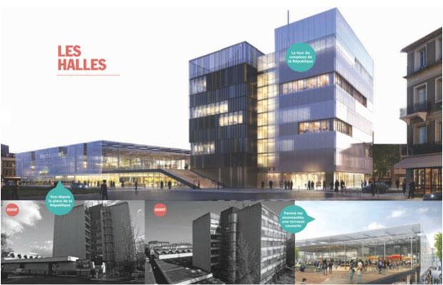 Projet de Centre Ville de PAU - Nouvelles halles