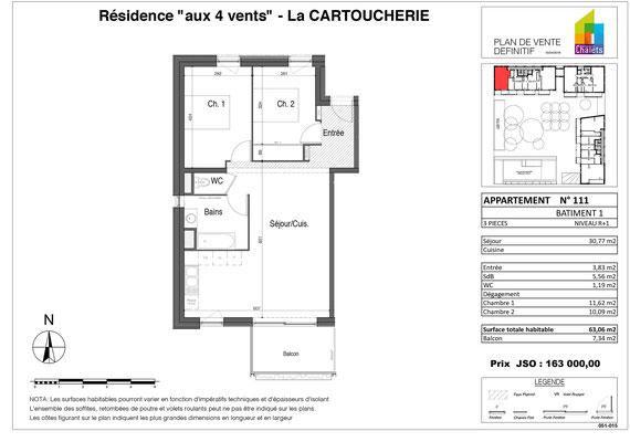 Appartement n° 111 - Projet habitat participatif Aux 4 Vents, Cartoucherie à Toulouse