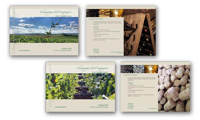 20-seitiger Katalog für Champagne & Compagnie