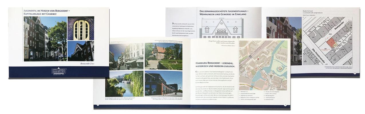12-seitige Broschüre zur Kapitalanlage für Otto Lemke Immobilien