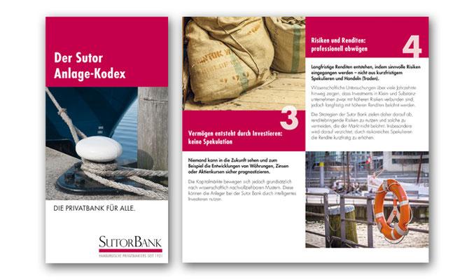 12-seitige Anlage-Info für die SutorBank