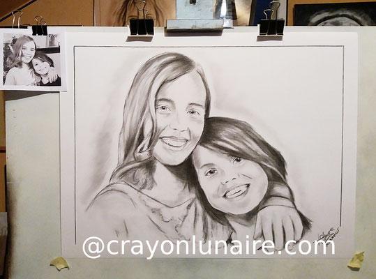 Portraits-soeurs-fusain