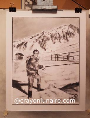 Nicolas-clara-portrait-fusain-dans-la-neige