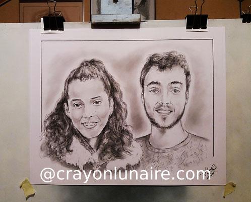 Portraits-couple-fusain
