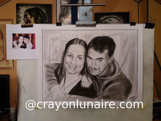 Couple-portraits-au-fusain