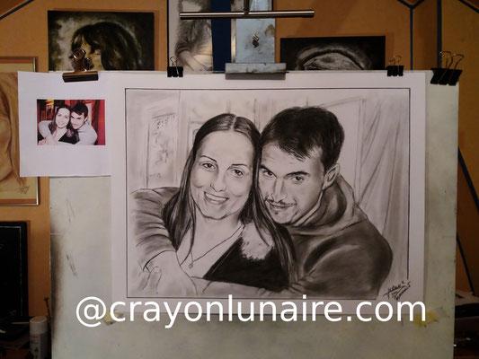 Couple-portraits-au-fusain