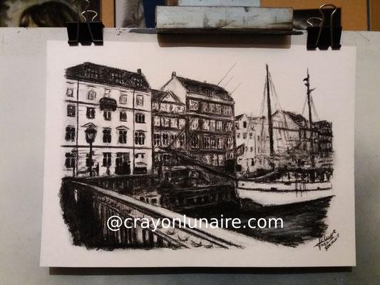 Copenhague-encre-de-chine-fusain-et-pierre-blanche
